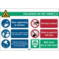 Veiligheid op het werk - Covid-19 Algemeen sticker