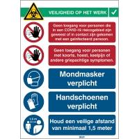 Veiligheid op het werk - Covid-19 Receptie 2 sticker