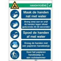 Veiligheid op het werk - Covid-19 Instructies voor handen wassen sticker