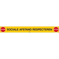Sociale afstand respecteren - Covid-19 Vloersticker